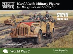 Plastic Soldier 15mm German Steyr Heavy Car (Plastik x5)