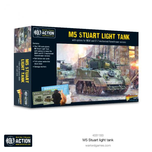 Bolt Action: US M5 Stuart (Plastic)