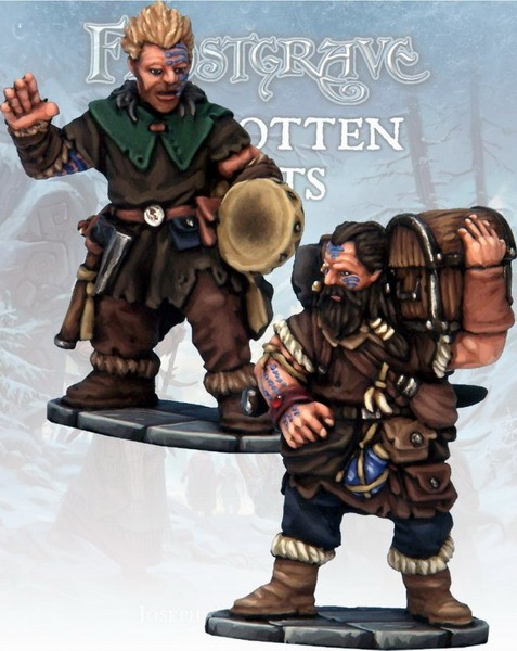 Frostgrave: Barbarian Bard & Pack Mule (2)
