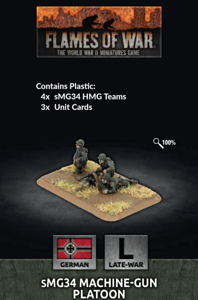 Flames of War GE: LW Mg34 Platoon (Plastik x4)