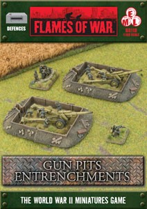 Gun Pits Entrenchments (dug-in markers x4!)