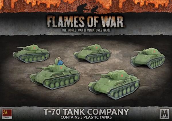 Flames of War SU: T-70 Tank Company (x5 Plastik)