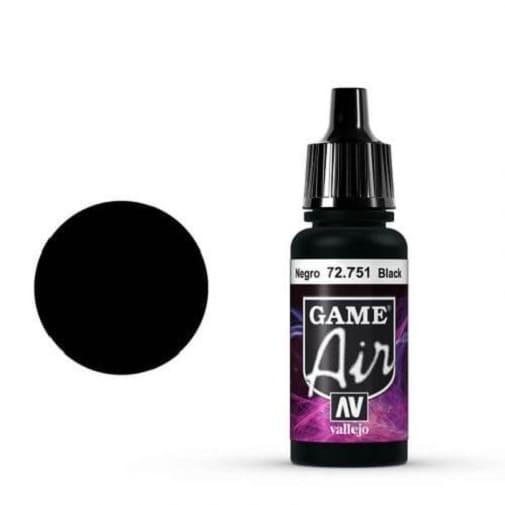 Vallejo Game Air 751 Black, 17 ml