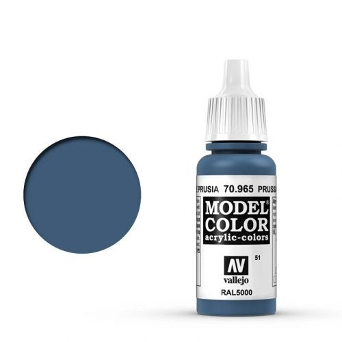 Vallejo Model Color: 051 Preussisch Blau (Prussian Blue), 17 ml (965)