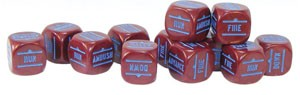 Bolt Action: Order Dice Maroon (12)