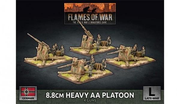Flames of War GE: LW 8,8cm Heavy AA Platoon (x4 Plastik)