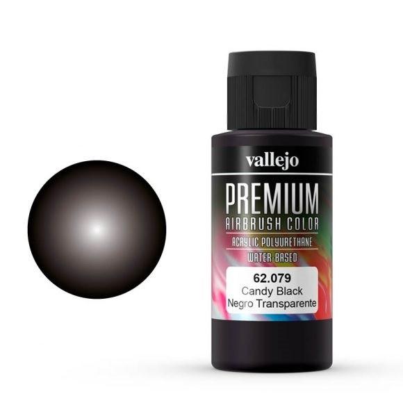 Vallejo Premium: Candy Black (Polyu.) (60ml)