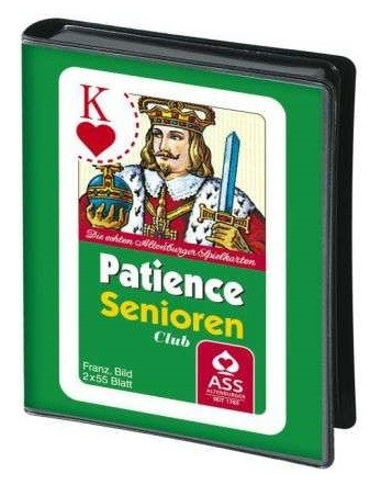Patience, französisches Bild, große Eckzeichen, Folienetui