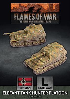 Flames of War GE: Elefant Tank-Hunter Platoon (x2)