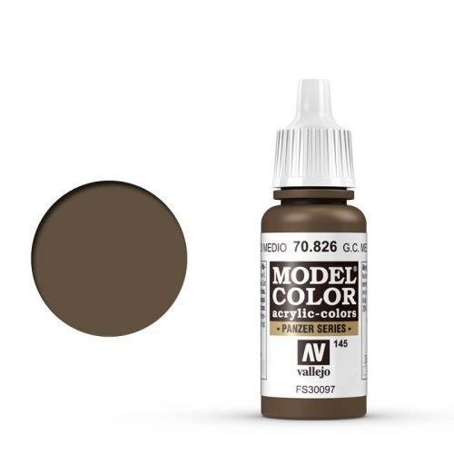 Vallejo Model Color: 145 Mittelbraune Tarnung (German Camo Medium Brown) (826)