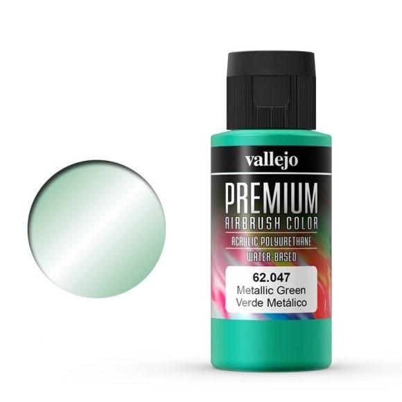 Vallejo Premium: Metallic Green (Polyu.) (60ml)