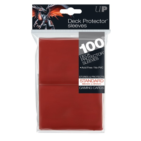 Standard Deck Protector Red Protector (100)