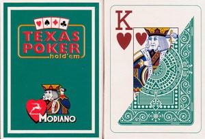 Poker: Modiano Plastico Jumbo Index 2 Eckzeichen Dunkelgrün