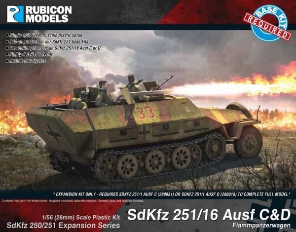 SdKfz 251/16 Ausf. C/D UPGRADE (1/56)