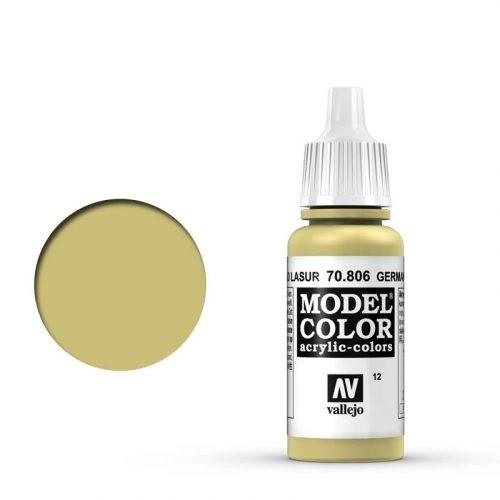 Vallejo Model Color: 012 Lasur Gelb (Lasur Yellow), 17 ml (806)