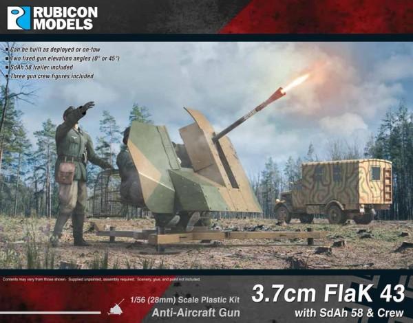3,7 cm FlaK43 w/ SdAh 58 & Crew