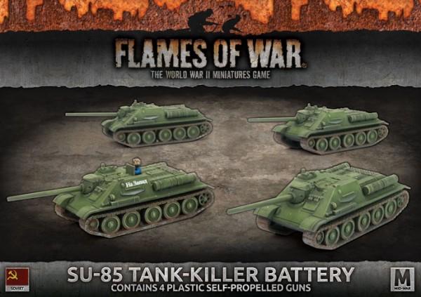Flames of War SU: SU-85 Tank Killer Battery (x4 Plastik)