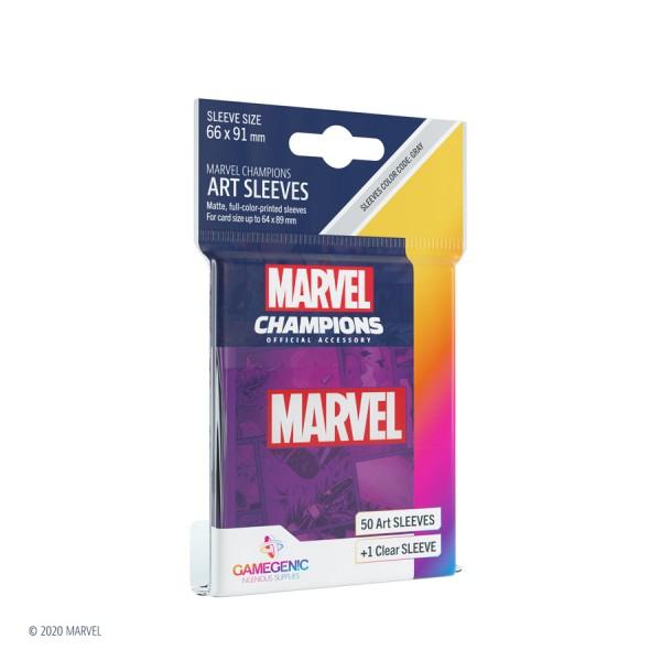 Gamegenic Marvel Champions Art Sleeves: Marvel Purple (50)