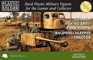 Plastic Soldier 15mm German Pak 40 with Raupenschlepper OST