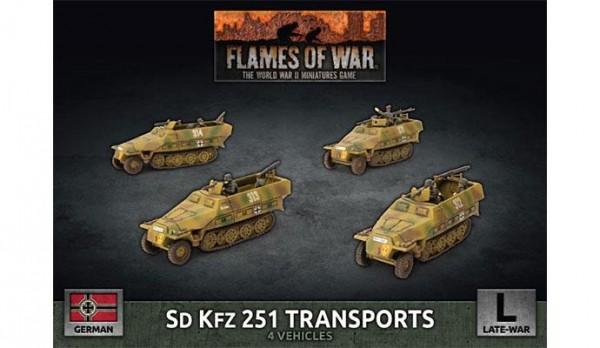 Flames of War GE: LW SdKfz 251 Transports (x4 Plastik)