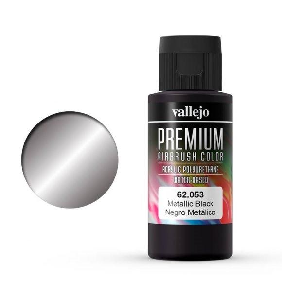 Vallejo Premium: Metallico Black (Polyu.) (60ml)