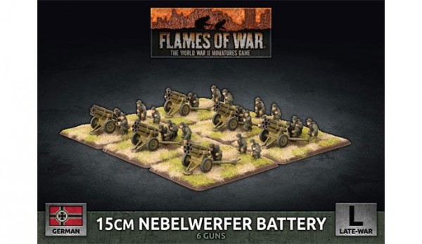 Flames of War GE: LW 15cm Nebelwerfer Battery (x6 Plastik)