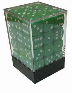 Würfelset: 36 Würfel, 12mm, opaque, grün