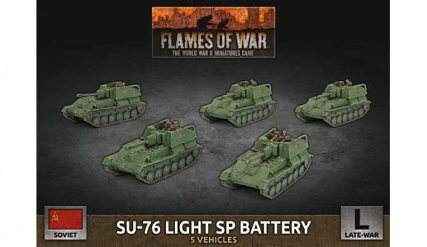 Flames of War SU: SU-76 Light SP Battery (x5/Plastic)