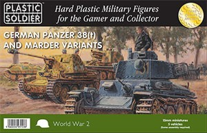 Plastic Soldier 15mm WW2 German Panzer 38T/ Marder (für FoW)