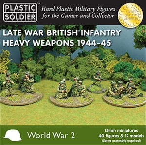 Plastic Soldier 15mm Late War British Heavy Weapons 1944-45