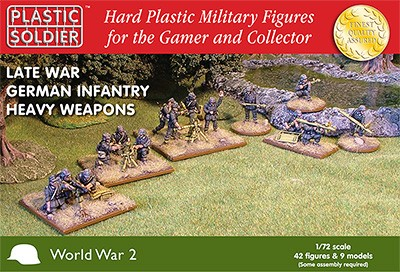 Plastic Soldier: 1/72 German Late War Heavy Weapon (Plastik)