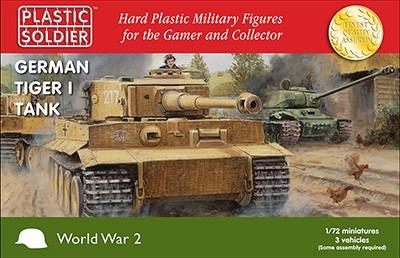 Plastic Soldier: 1/72 German Tiger I (Plastik x3)
