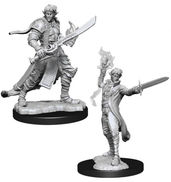 Pathfinder Deep Cuts Mini.: Male Elf Magus (Magic User)