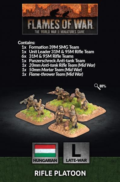 Flames of War: Hungarian Rifle Platoon