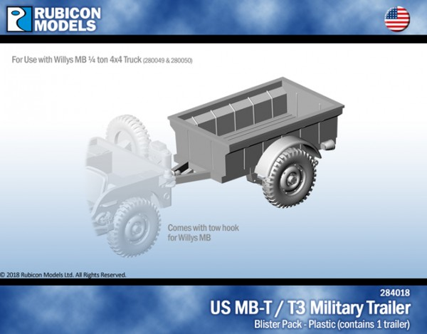 US Jeep MB-T/T3 Military Trailer