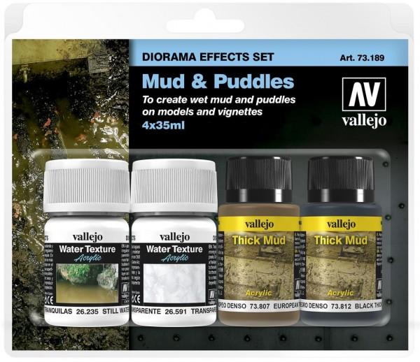 Vallejo Mud & Puddles (4x35ml.)