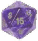 20-seitiger Würfel lila