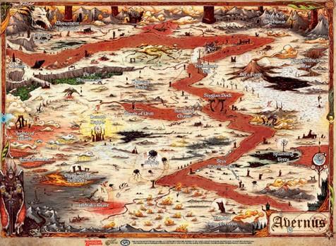 """Dungeons & Dragons: """"Avernus"""" - Map (23' x 15')"""