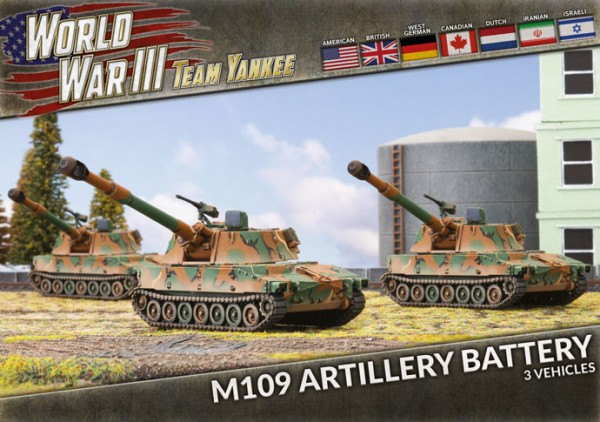 Team Yankee M109 Artillery (x3 plastic)
