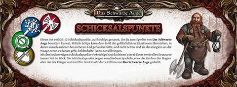 DSA5 Einsteigerbox: Schicksalspunkte-Set (12)