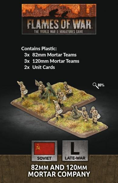 Flames of War SU: 82mm & 120mm Mortar Company (Plastic)