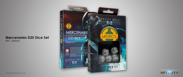 Mercenaries D20 Dice Set (Set of five 20-sided dice)