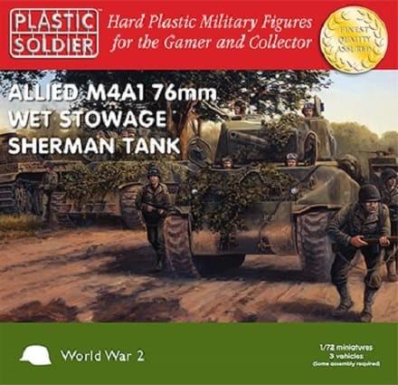Plastic Soldier: 1/72 Sherman M4A1 76mm Wet (Plastik x3)