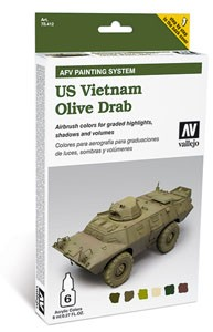 Model Air: Model Air Set AFV US Vietnam Olive Drab Set (6)