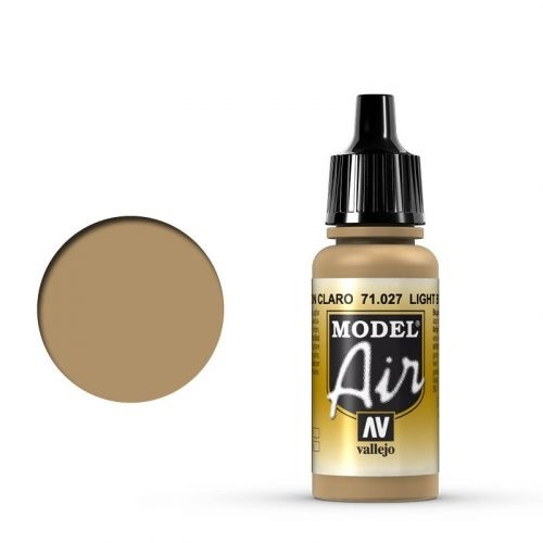 Vallejo Model Air: 027 Light Brown, 17 ml