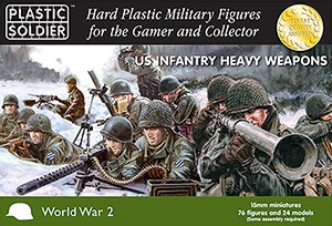 Plastic Soldier 15mm WW2 US Infantry Heavy Weapons