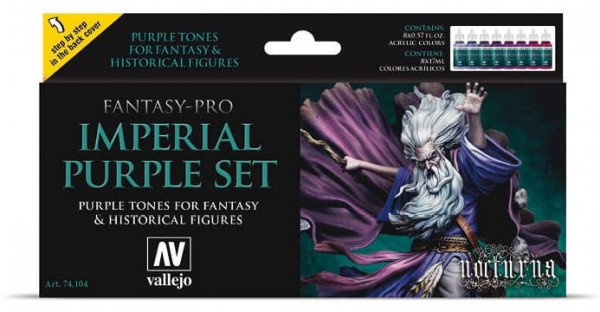 Vallejo Model Color: Model Color Set Fantasy-Pro Imperial Purple (8)
