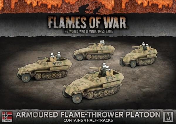 Flames of War GE: Armoured Flame-Thrower Platoon (x4 Plastik)