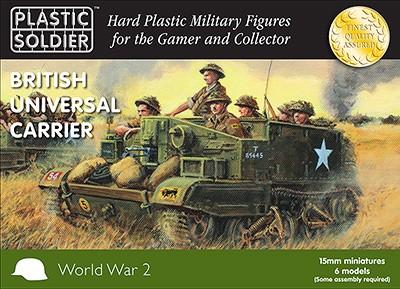 Plastic Soldier 15mm WW2 British Universal Carrier x9