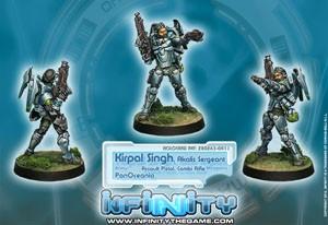 Infinity: Kirpal Sighn, Akalis Sergeant (Assault Pistol, C.R